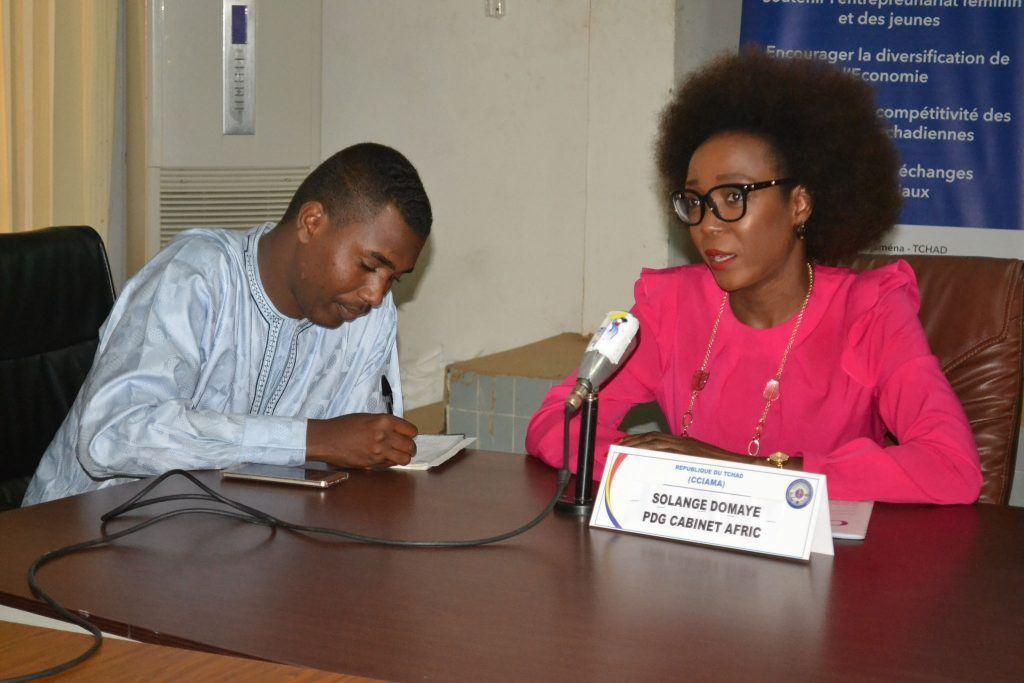 Conference de presse Afric et la CCIAMA Tchad